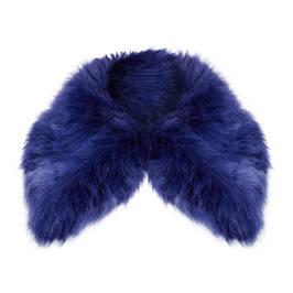 MARINA RINALDI FAUX FUR COLLAR BLUETTE  - Plus Size Collection