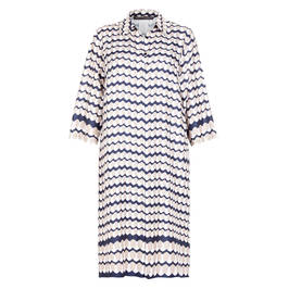 MARINA RINALDI ABSTRACT PRINT SHIRT DRESS SATIN - Plus Size Collection