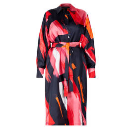MARINA RINALDI SILK SATIN SHIRT DRESS - Plus Size Collection