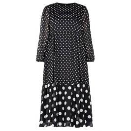 MARINA RINALDI SPOT PRINT CHIFFON DRESS - Plus Size Collection