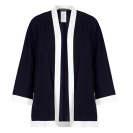 MARINA RINALDI KIMONO JACKET NAVY - Plus Size Collection