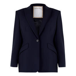 MARINA RINALDI TRIACETATE BLAZER NAVY  - Plus Size Collection