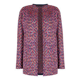 MARINA RINALDI TWEED JACKET MULTICOLOUR  - Plus Size Collection