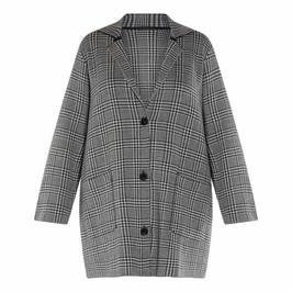 MARINA RINALDI CHECK KNIT COAT - Plus Size Collection