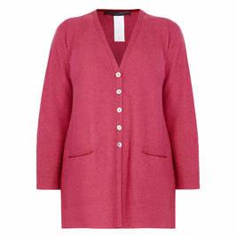 MARINA RINALDI CASHMERE CARDIGAN RED - Plus Size Collection