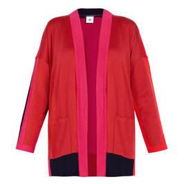 MARINA RINALDI VIRGIN WOOL CARDIGAN RED  - Plus Size Collection