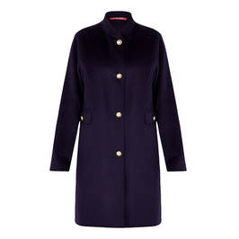 MARINA RINALDI DOUBLE-FACED WOOL BLEND COAT - Plus Size Collection