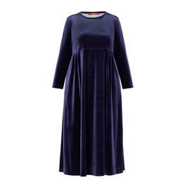 MARINA RINALDI VELVET DRESS NAVY - Plus Size Collection