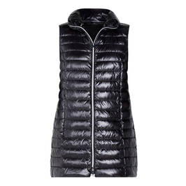 MARINA RINALDI PADDED LONG GILET BLACK - Plus Size Collection