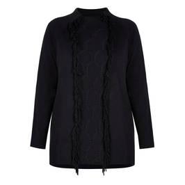 MARINA RINALDI KNITTED TUNIC BLACK - Plus Size Collection