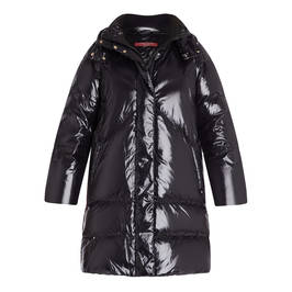 MARINA RINALDI QUILTED GLOSS PUFFER BLACK - Plus Size Collection