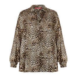 MARINA RINALDI LEOPARD PRINT SHIRT - Plus Size Collection