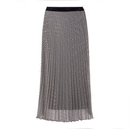 MARINA RINALDI HOUNDSTOOTH PLEATED MIDI SKIRT - Plus Size Collection