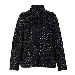 MARINA RINALDI SWEATER JEWEL EMBELLISHED SWEATER BLACK - Plus Size Collection