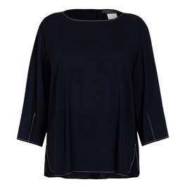 MARINA RINALDI TUNIC NAVY - Plus Size Collection