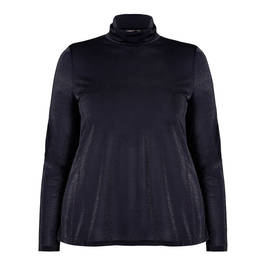 MARINA RINALDI ULTRA-FINE LUREX POLO NECK - Plus Size Collection