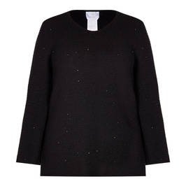 MARINA RINALDI RIBBED SEQUIN SWEATER - Plus Size Collection