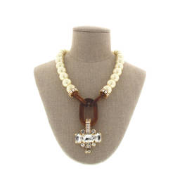 NUR PEARL TORTOISESHELL AND JEWEL NECKLACE - Plus Size Collection