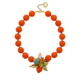 NUR ORANGE, PEARL, DUCKEGG NECKLACE - Plus Size Collection