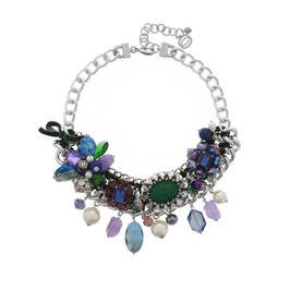 NUR PEARL AND JEWEL NECKLACE GREEN - Plus Size Collection
