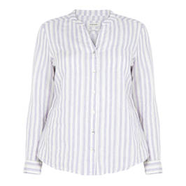 OPEN END LILAC STRIPE SHIRT - Plus Size Collection
