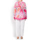 OPEN END PAISLEY TUNIC PINK