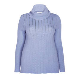ELENA MIRO KNITTED TUNIC PALE BLUE - Plus Size Collection
