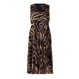 PERSONA BY MARINA RINALDI GEORGETTE ZEBRA PRINT DRESS WITH OPTIONAL SLEEVE - Plus Size Collection