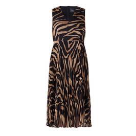 PERSONA BY MARINA RINALDI GEORGETTE ZEBRA PRINT DRESS - Plus Size Collection