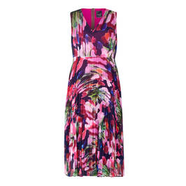 PERSONA BY MARINA RINALDI GEORGETTE DRESS FUCHSIA WITH OPTIONAL SLEEVE - Plus Size Collection