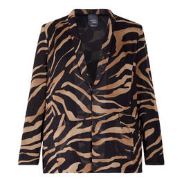 PERSONA BY MARINA RINALDI ZEBRA PRINT JACKET  - Plus Size Collection
