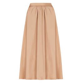 PERSONA BY MARINA RINALDI TAFFETA SKIRT CARAMEL - Plus Size Collection