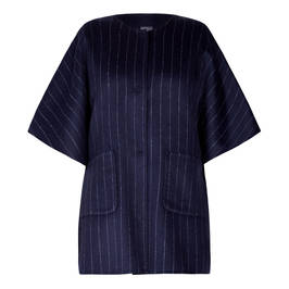 PERSONA BY MARINA RINALDI DOUBLE FACE CAPE NAVY - Plus Size Collection
