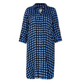 PERSONA BY MARINA RINALDI SHIRT DRESS BLUE - Plus Size Collection