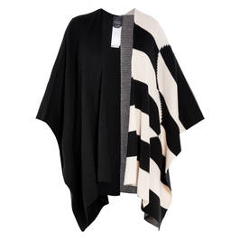 PERSONA BY MARINA RINALDI PONCHO BLACK AND WHITE - Plus Size Collection