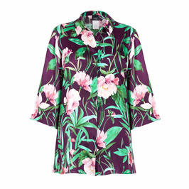 PERSONA BY MARINA RINALDI SATIN FLORAL SHIRT - Plus Size Collection