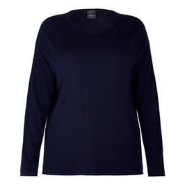 PERSONA BY MARINA RINALDI SWEATER NAVY  - Plus Size Collection