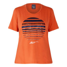 PERSONA BY MARINA RINALDI T-SHIRT ORANGE - Plus Size Collection