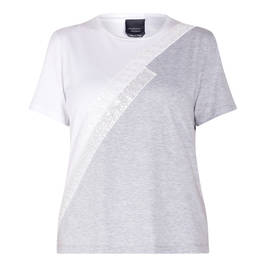 PERSONA BY MARINA RINALDI STRETCH JERSEY T-SHIRT WHITE  - Plus Size Collection