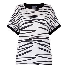 PERSONA BY MARINA RINALDI TUNIC BLACK AND WHITE  - Plus Size Collection