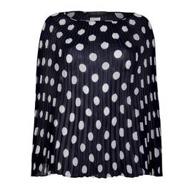 MARINA RINALDI PLEATED GEORGETTE PONCHO NAVY - Plus Size Collection