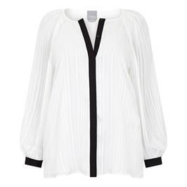 MARINA RINALDI SATIN BLOUSE WHITE - Plus Size Collection