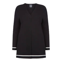 PERSONA BY MARINA RINALDI CARDIGAN BLACK - Plus Size Collection