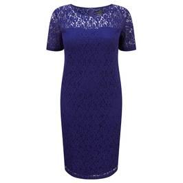 PERSONA cobalt blue lace DRESS - Plus Size Collection