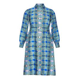 PERSONA BY MARINA RINALDI PRINTED SATIN SHIRT DRESS - Plus Size Collection