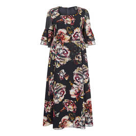 PERSONA BY MARINA RINALDI GEORGETTE FLORAL PRINT DRESS - Plus Size Collection