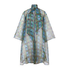 PERSONA BY MARINA RINALDI PRINTED ORGANZA DUSTER - Plus Size Collection