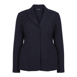 PERSONA BY MARINA RINALDI NAVY JACKET - Plus Size Collection