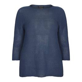 PERSONA BY MARINA RINALDI LUREX SWEATER BLUETTE - Plus Size Collection
