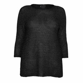PERSONA BY MARINA RINALDI LUREX SWEATER BLACK - Plus Size Collection